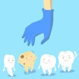 Γιατρός που μαζεύει με το χέρι τα δόντια αποσύνθεσης Στοκ Φωτογραφίες