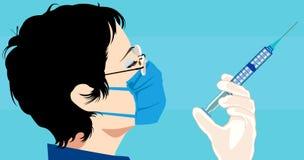 γιατρός που παίρνει την έγχ&u Στοκ Εικόνα