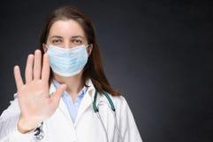 Γιατρός που παρουσιάζει σημάδι στάσεων Στοκ φωτογραφίες με δικαίωμα ελεύθερης χρήσης