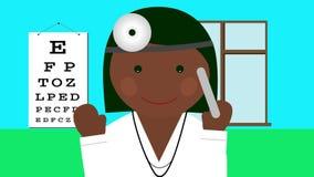 Γιατρός σε ομοιόμορφο με τη ζωτικότητα βρόχων στηθοσκοπίων διανυσματική απεικόνιση