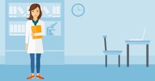 Γιατρός στο ιατρικό γραφείο διανυσματική απεικόνιση