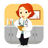 γιατρός το γραφείο της Στοκ Φωτογραφία