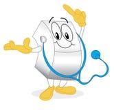 γιατρός χαρακτήρα Στοκ φωτογραφία με δικαίωμα ελεύθερης χρήσης