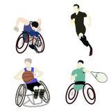Για άτομα με ειδικές ανάγκες αθλητισμός ατόμων Στοκ Φωτογραφία