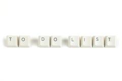 Για να κάνει τον κατάλογο από τα διεσπαρμένα κλειδιά πληκτρολογίων στο λευκό Στοκ φωτογραφία με δικαίωμα ελεύθερης χρήσης