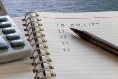 Για να κάνει τον κατάλογο, σχέδιο και να οργανώσει στοκ εικόνα με δικαίωμα ελεύθερης χρήσης