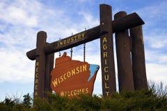 για να χαιρετίσει το Wisconsin στοκ φωτογραφίες