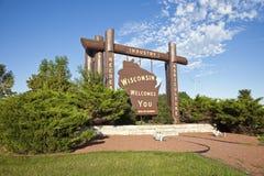 για να χαιρετίσει το Wisconsin στοκ φωτογραφία