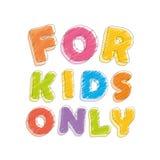 Για τα παιδιά μόνο Κραγιόνι μολυβιών πηγών Χειρόγραφος, κακογραφία διάνυσμα απεικόνιση αποθεμάτων