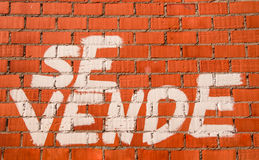 ΓΙΑ την ΠΩΛΗΣΗ - SE VENDE - πραγματική κρατική κρίση Στοκ εικόνες με δικαίωμα ελεύθερης χρήσης