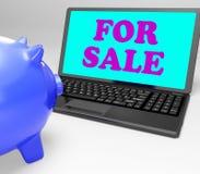 Για την πώληση το lap-top σημαίνει τα προϊόντα στους αγοραστές διανυσματική απεικόνιση