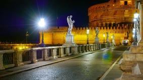 Για τους πεζούς γέφυρα στους αγγέλους Castle - το διάσημο Castel Sant Angelo στη Ρώμη Στοκ εικόνες με δικαίωμα ελεύθερης χρήσης