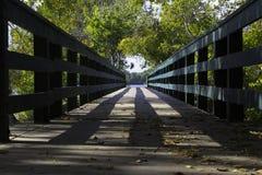 Για τους πεζούς γέφυρα Στοκ Φωτογραφία
