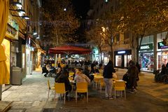 Για τους πεζούς λεωφόρος οδών του Ben Yehudah στοκ φωτογραφία με δικαίωμα ελεύθερης χρήσης