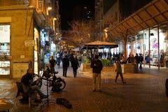 Για τους πεζούς λεωφόρος οδών του Ben Yehudah στοκ εικόνες με δικαίωμα ελεύθερης χρήσης