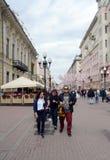 Για τους πεζούς οδός Arbat στη Μόσχα Στοκ Εικόνες
