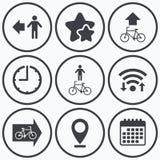 Για τους πεζούς οδικό εικονίδιο Σημάδι ιχνών πορειών ποδηλάτων Στοκ φωτογραφίες με δικαίωμα ελεύθερης χρήσης
