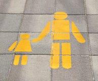 Για τους πεζούς οδικό σημάδι Στοκ εικόνα με δικαίωμα ελεύθερης χρήσης