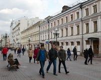 Για τους πεζούς οδός Arbat στη Μόσχα Στοκ Φωτογραφία
