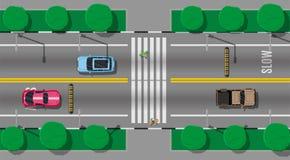 Για τους πεζούς πέρασμα με την πρόσκρουση ταχύτητας ελεύθερη απεικόνιση δικαιώματος