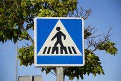 Για τους πεζούς σήμα Στοκ εικόνες με δικαίωμα ελεύθερης χρήσης