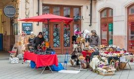 Για τους πεζούς στοά Udvar Gozsdu στη Βουδαπέστη, κατά τη διάρκεια των Χριστουγέννων Στοκ Φωτογραφίες