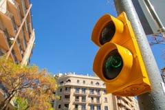Για τους πεζούς φωτεινός σηματοδότης στοκ φωτογραφίες με δικαίωμα ελεύθερης χρήσης