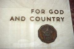 Για το Θεό και τη χώρα Στοκ Εικόνες