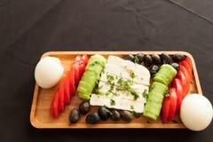 Για το καλό φυσικό πιάτο προγευμάτων πρωινού Στοκ Εικόνα