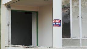 Για το σημάδι πώλησης Μέρος για την αυτοκόλλητη ετικέττα σημαδιών πώλησης Λευκός Οίκος με το παράθυρο για την πώληση Πράσινη πλοκ απόθεμα βίντεο