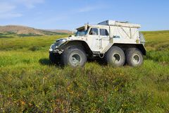 Για όλα τα εδάφη κινήσεις οχημάτων Trekol tundra στοκ εικόνες