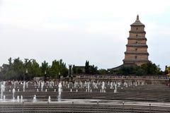 Γιγαντιαία άγρια παγόδα Dayan παγοδών χήνων, Xian, Κίνα στοκ φωτογραφίες με δικαίωμα ελεύθερης χρήσης