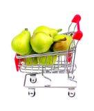 Γιγαντιαία αχλάδια παραδείσου στο μίνι κάρρο αγορών Στοκ εικόνες με δικαίωμα ελεύθερης χρήσης