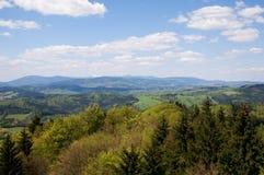Γιγαντιαία βουνά από, βουνά Jestrebi, την Τσεχία Στοκ Εικόνες