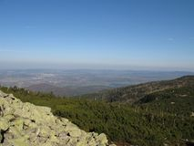 Γιγαντιαία βουνά στην Πολωνία και τσέχικα Στοκ φωτογραφία με δικαίωμα ελεύθερης χρήσης