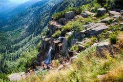 Γιγαντιαία βουνά Τσεχιών Pancavsky vodopad- Στοκ εικόνα με δικαίωμα ελεύθερης χρήσης