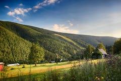 Γιγαντιαία βουνά Τσεχιών Spindleruv mlyn- Στοκ Εικόνα