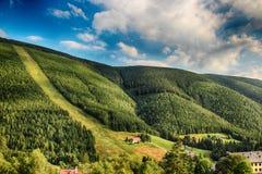 Γιγαντιαία βουνά Τσεχιών Spindleruv mlyn- Στοκ Φωτογραφίες