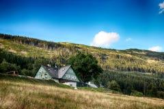 Γιγαντιαία βουνά Τσεχιών Spindleruv mlyn- Στοκ Εικόνες
