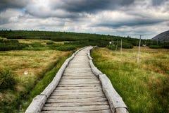 Γιγαντιαία βουνά Τσεχιών Upska raseliniste- Στοκ φωτογραφία με δικαίωμα ελεύθερης χρήσης
