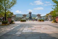Γιγαντιαία Βούδας Wuxi φυσική περιοχή Lingshan στο λουτρό άρδευσης Kowloon Στοκ Εικόνα