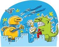 Γιγαντιαία πάλη πιτών τεράτων Στοκ εικόνα με δικαίωμα ελεύθερης χρήσης