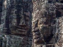 Γιγαντιαία πέτρινα πρόσωπα στο ναό Bayon σε Angkor, Καμπότζη Στοκ εικόνες με δικαίωμα ελεύθερης χρήσης