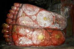 Γιγαντιαία πόδια του Βούδα Στοκ Φωτογραφίες