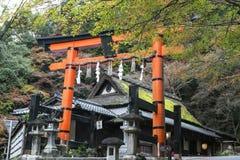 Γιγαντιαία πύλη torii στη λάρνακα Shinto το φθινόπωρο Στοκ Φωτογραφία
