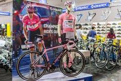 Γιγαντιαία πώληση οδικών ποδηλάτων κατασκευαστών παγκόσμιων ` s μεγαλύτερη ποδηλάτων της Ταϊβάν στο διεθνές ποδήλατο 2018 της Μπα στοκ εικόνες