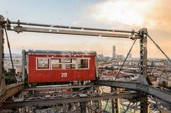 Γιγαντιαία ρόδα στη Βιέννη στοκ εικόνες