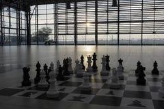 Γιγαντιαία σκακιέρα Στοκ φωτογραφίες με δικαίωμα ελεύθερης χρήσης
