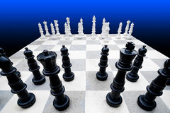 γιγαντιαίος πίνακας σκακιού Στοκ Εικόνες