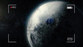 Γιγαντιαίος πλανήτης αερίου Ομορφιά του βαθιού διαστήματος Δισεκατομμύρια των γαλαξιών στον κόσμο Απίστευτα όμορφος ganymede διανυσματική απεικόνιση